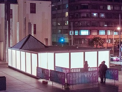Plexiglas Satin Ice sheets featured at Sydney Vivid Festival
