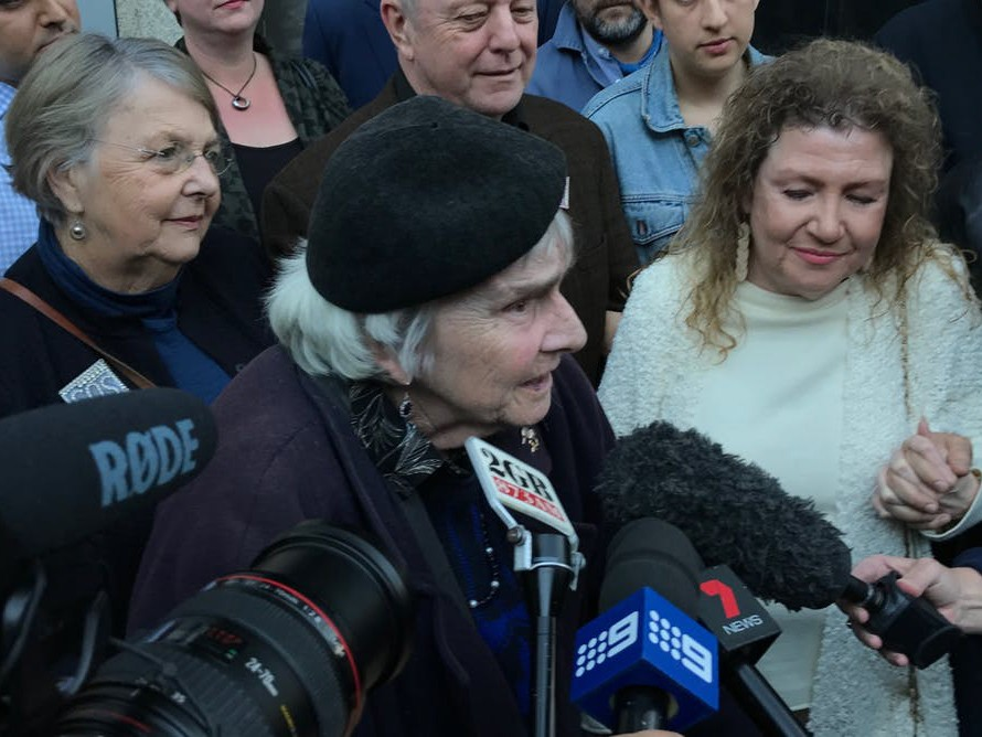 Maya Demetriou, 90, pictured after the court ruling that the minister did not properly consider a heritage listing recommendation, will be the last tenant left in the Sirius building. Photography by Perry Duffin