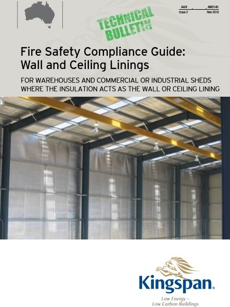Kingspan Insulation's new Fire Safety Compliance Guide: Wall and Ceiling Linings