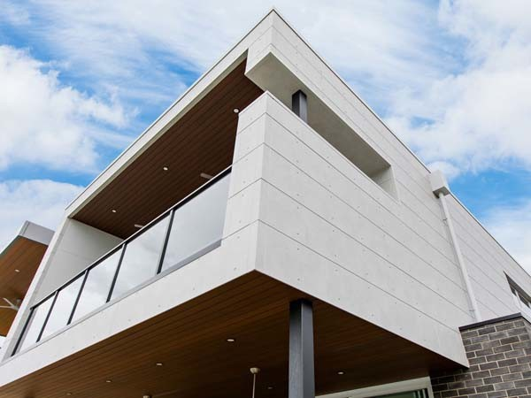 Cemintel's Urban Grey cladding panels at the West Lakes home