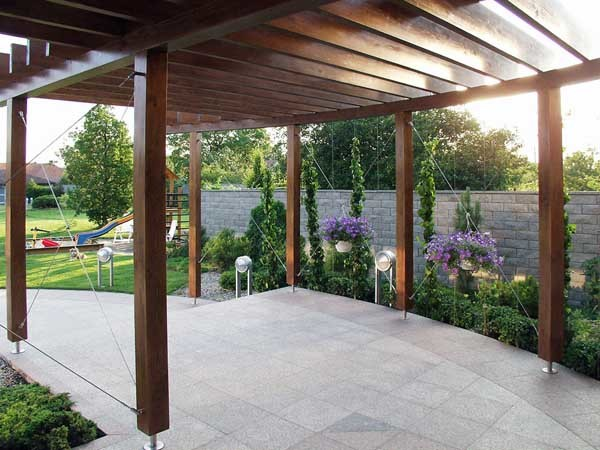 The Jakob Green Solutions range was specified for this pergola