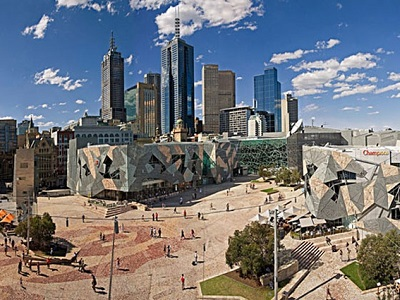 Federation Square by Lab Architecture Studio and Bates Smart. Image: Culture Victoria
