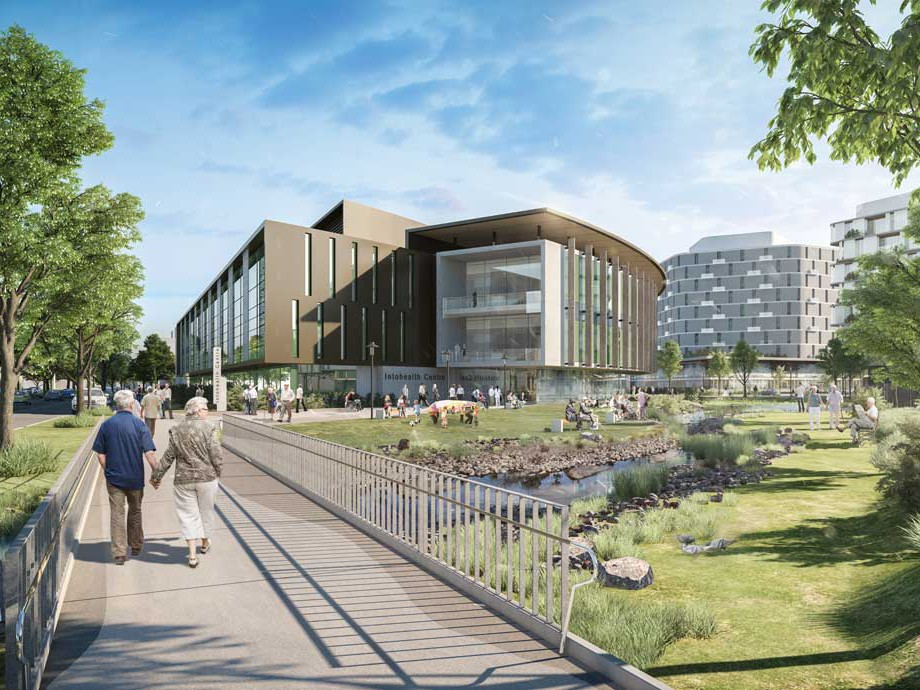 The Precinct will include Australia's first primary and community health clinic to offer truly integrated, patient-centred healthcare, as well as aged care and retirement living facilities, and research and teaching programs. Image: UOW