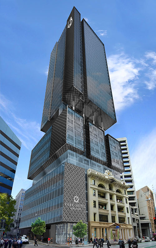 The Car Company >> GHD Woodhead's boxy Adelaide tower dwarfs heritage facade ...