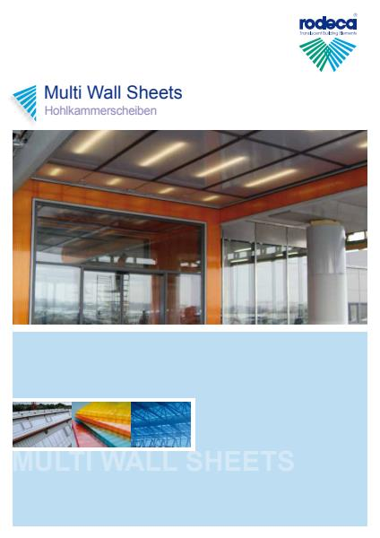 Multi-wall sheets brochure