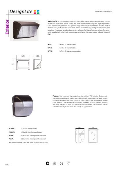 DesignLite Wall Pack Product Information