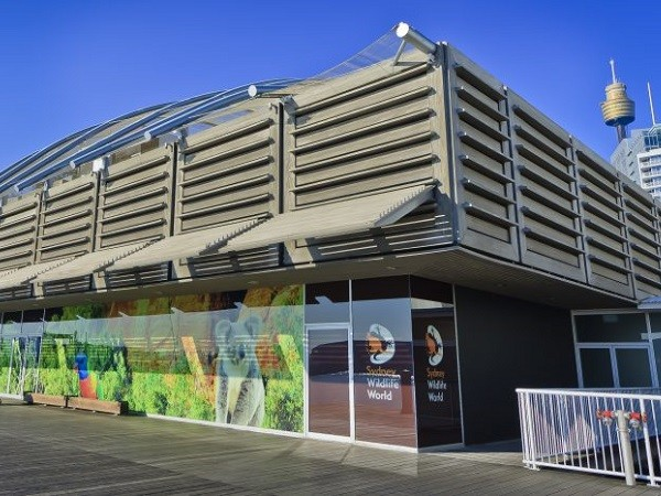 Innowood's composite timber facade at Sydney Wildlife Zoo