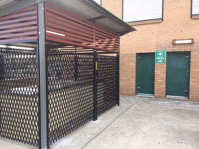 ATDC's concertina security shutters