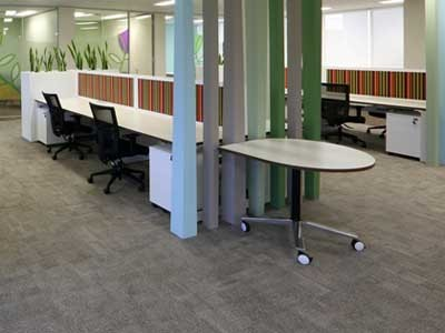 Shadow Block provided seamless joins between the different coloured carpets