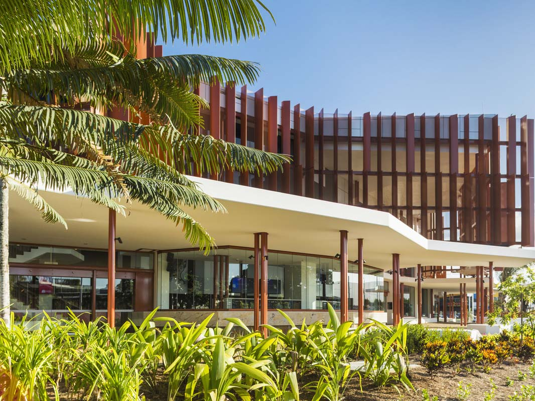 The tropical architecture celebrating Cairns