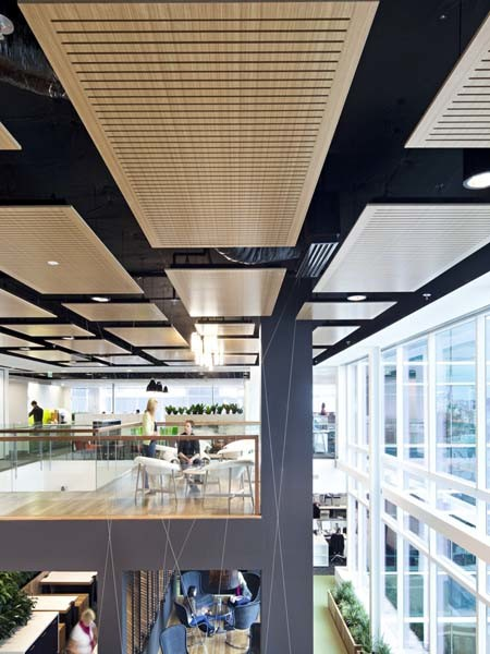 Floating Acoustic Panels In Bvn S Prize Winning Fit Out