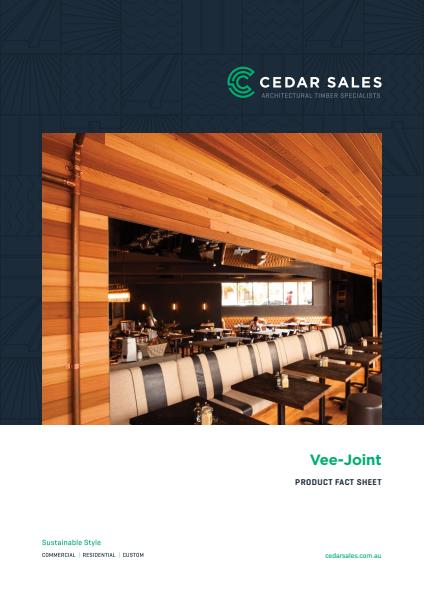 Vee joint cladding fact sheet
