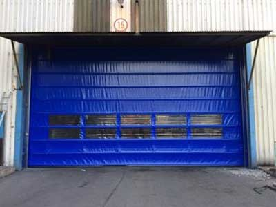 DMF high speed fold up door