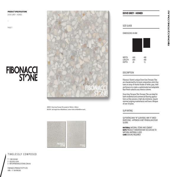 Dove Grey Terrazzo Stone Tiles From Fibonacci Stone