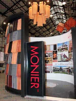 Monier's stand at Sydney InDesign