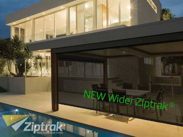 Ziptrak blinds to fit wider openings