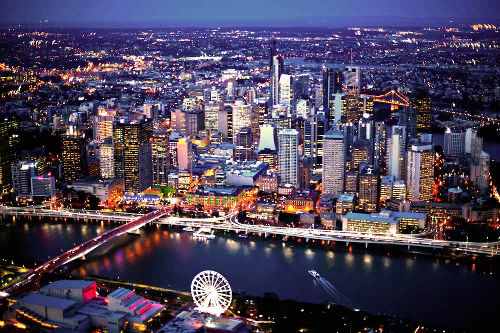 Arkhefield principal Andrew Gutteridge says Brisbane City has enormous potential. Image: V2 Helicopters
