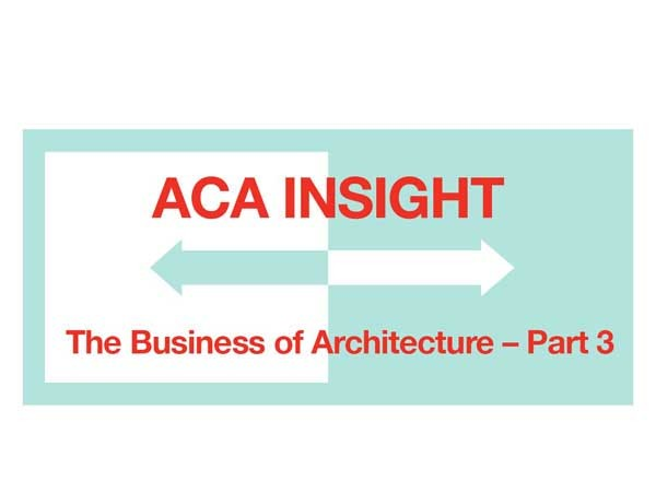 The webinar discusses important elements that make up an architectural business