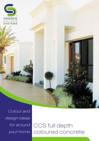 CCS Colour Through Concrete for residential projects brochure