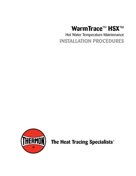 HSX Installation Instructions
