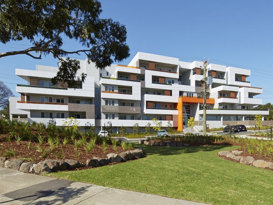 At the Ashwood-Chadstone estate, Port Phillip Housing Association has built high-quality homes, with no visible difference between the 72 private and 206 community housing dwellings