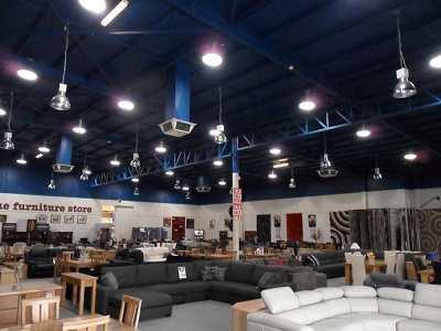 Spearwood Furniture store featuring Solatube daylighting systems