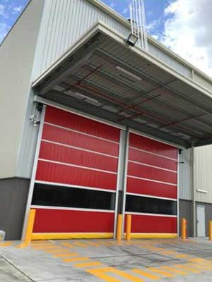 Series RL3000 rapid roll doors can be customised at DMF's Sydney factory