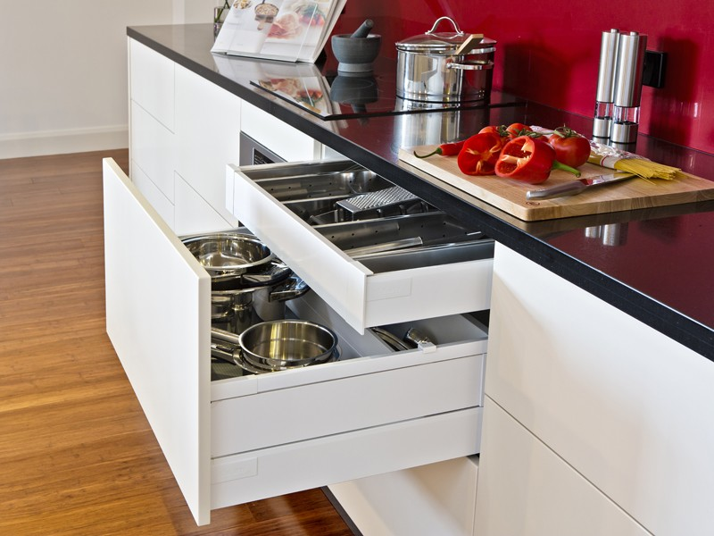 Food for thought focus on workflow space and motion for Secret drawer kitchens