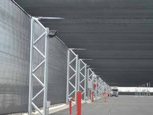 MakMax's hail net structures provide optimum weather protection for stored or parked vehicles