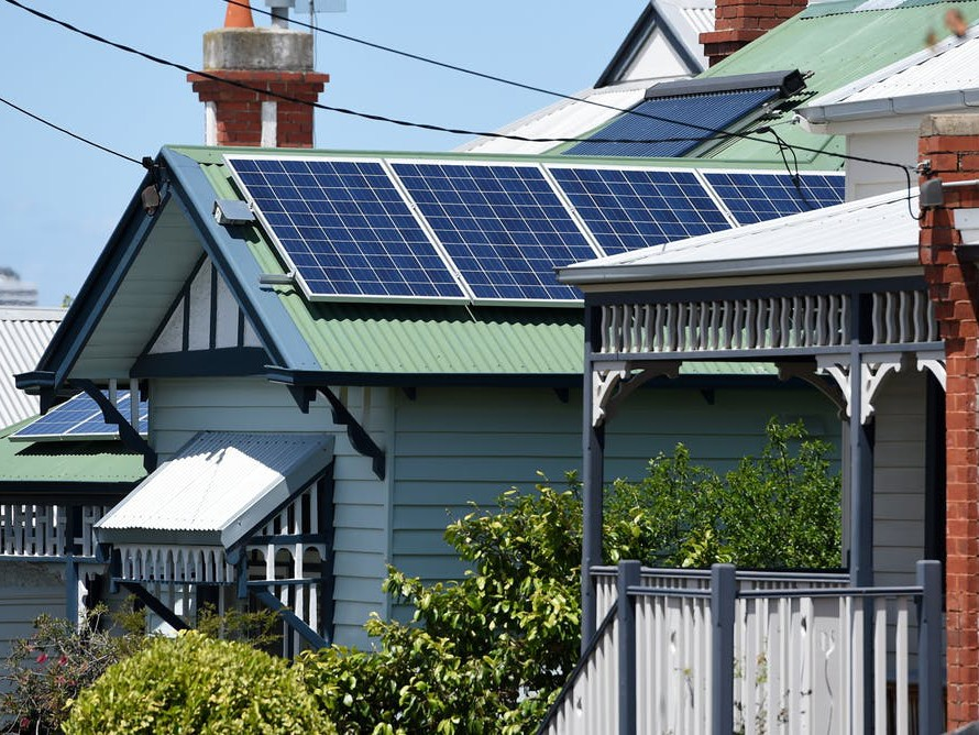Retrofitting older homes to 'green' the nation's housing stock involves much more than installing rooftop solar panels. Image: Tracey Nearmy/AAP