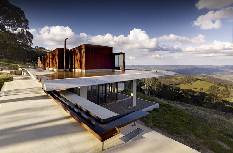 2014 house of the year invisible house by peter House built into mountain