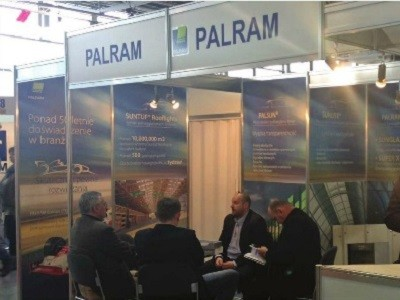 The Palram booth at the 2016 Budma Poland