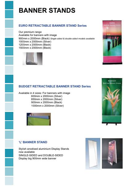 Banner Stands Product Brochure