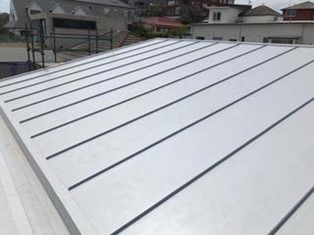 Zinc Roof Look Achieved With Cosmofin Pvc Standing Seams Architecture Design