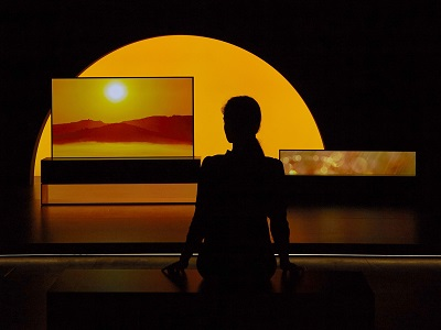 'Redefining Space', the collaborative installation showcasing LG SIGNATURE OLED TV R (model 65R9)