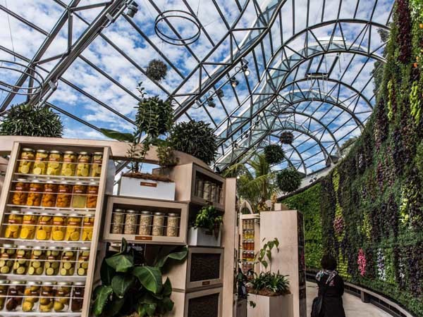 The Calyx is a world-class horticultural space built in the Garden