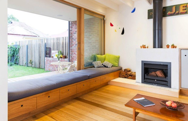 family home built in the backyard of a melbourne property. Black Bedroom Furniture Sets. Home Design Ideas