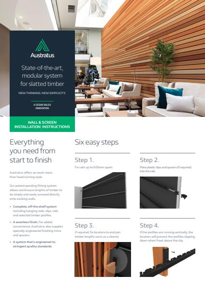 Austratus wall & screen installation instructions