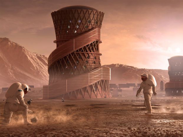 Mars architecture competition SEArch+ and Apis Cor