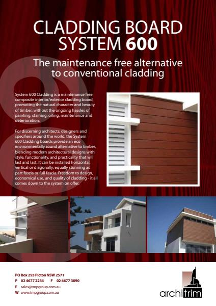 Architrim System 600 Cladding