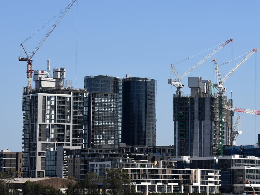 The argument that stronger supply will deliver more affordable housing isn't borne out in areas where new unit and apartment construction is booming. Image: Joel Carrett/AAP