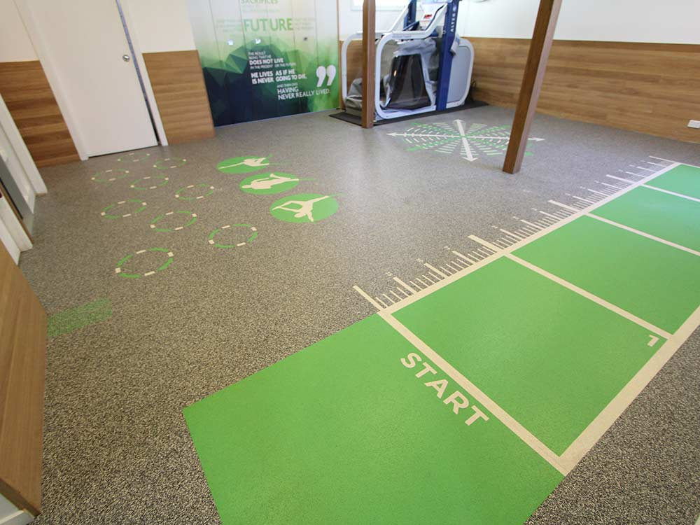 Rephouse rubber flooring Peak Sports and Spine Centre Brisbane