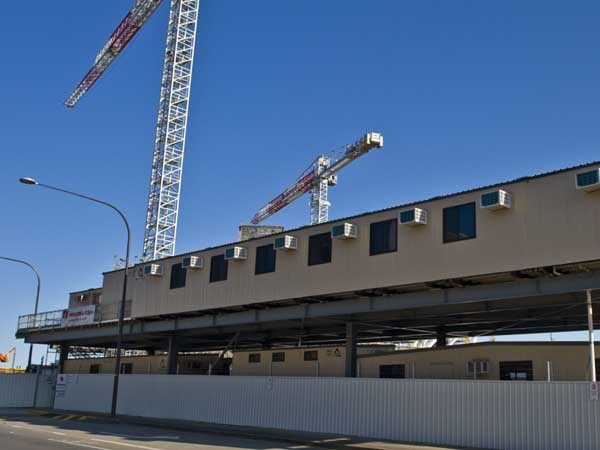 Ausco Modular was contracted to provide the construction site buildings for the SAHMRI project