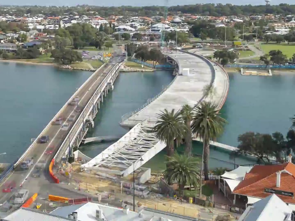 The City of Mandurah in Perth has put out Expressions of Interest (EOIs) for artists to create a new work that will reflect community memories of the Old Mandurah Bridge, and as a way to complement the new Mandurah Bridge which is currently under construction. Image www.mainroads.wa.gov.au