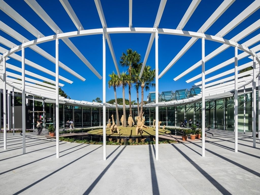McGregor Coxall and PTW recently designed the new Calyx structure in the Royal Botanic Gardens Sydney. Image: Courtesy PTW Architects