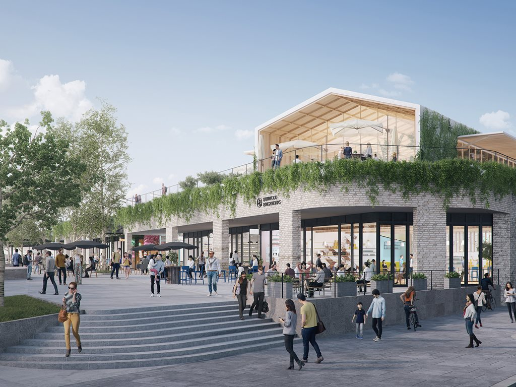 "At Burwood Brickworks shopping centre in Melbourne, Frasers Property says that it is aiming to create the world's most sustainable retail development with a 2000sqm urban farm planned for the shopping centre's rooftop, one that achieves the highest global sustainability standard: Living Building Challenge certification. Image"" Supplied"