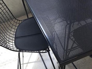 Perforated Table with A-frame legs by Redfox & Wilcox, Melbourne