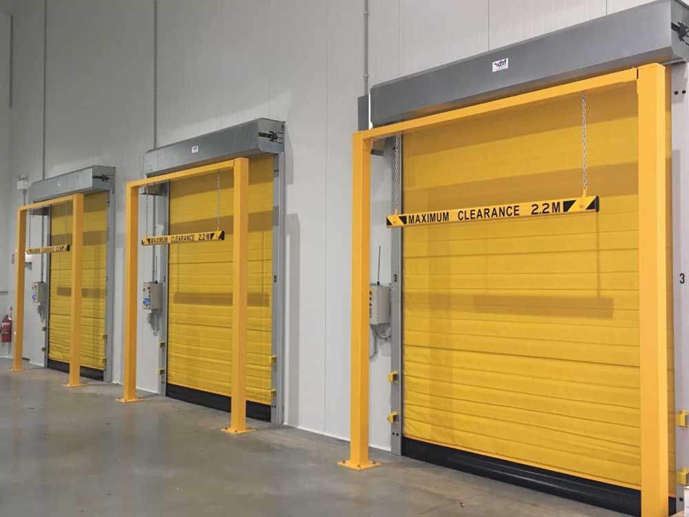 DMF rapid roll doors for cold storage warehousing