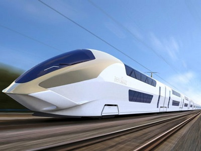 Artist's impression of a High Speed Rail concept design by Andreas Vogler Studio