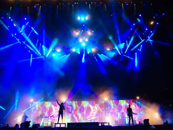 Performance by British band Bring Me the Horizon; lighting design with Jands Vista L5 (Photo: Adam Elmakia)
